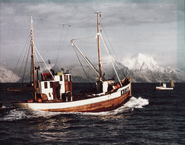 "My Grandfather - Rolv Bjugn - on his fishing vessel ""Havleik"""