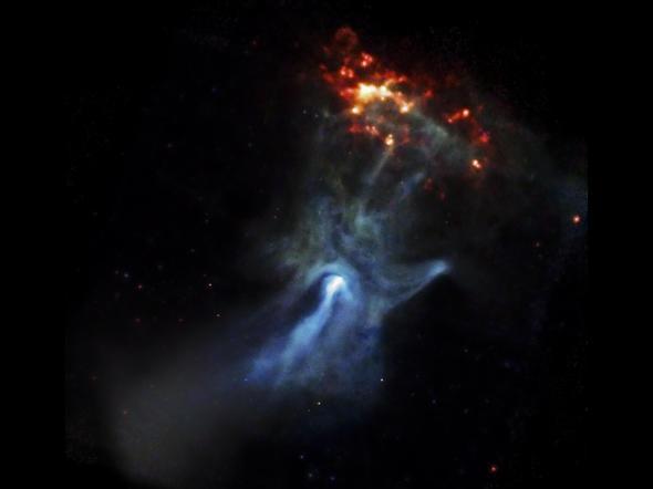 Hand of God - a pulsar and a nebula.