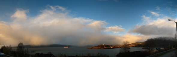 Sun and Snow - Beginning of winter in Narvik