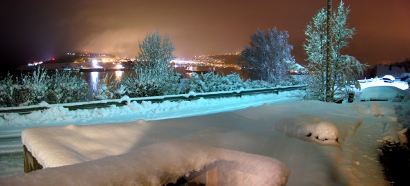 Silent Evening in snowy Narvik