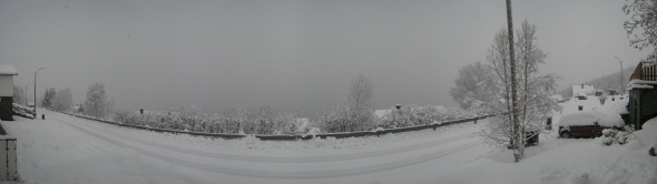 Snowy day panorama