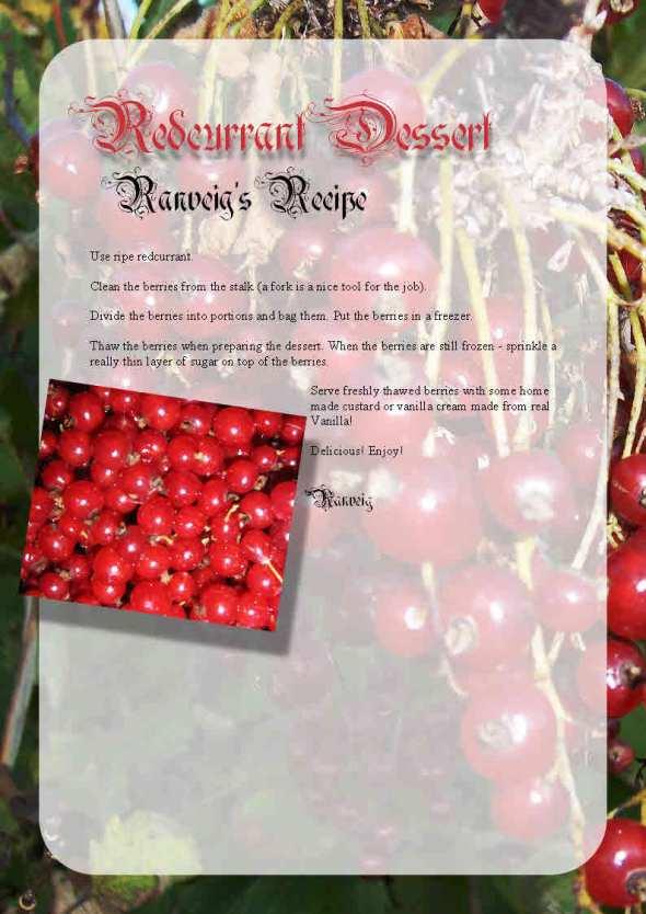 Ranveigs Redcurrant Dessert