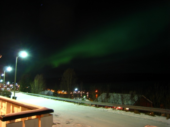 Northern Lights above the Ofoten Fjord ( seen towards South-West)