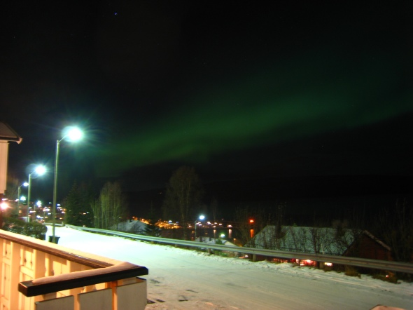 Northern Lights above the Ofoten Fjord 2 (seen towards South-West)