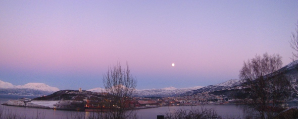 Pastel Sky above Narvik noon yesterday