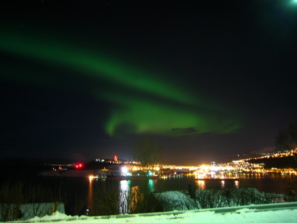 Great Northern Lights Show Yesterday above Narvik
