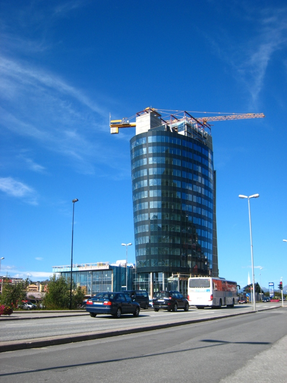 The new Rica Hotel being built in Narvik