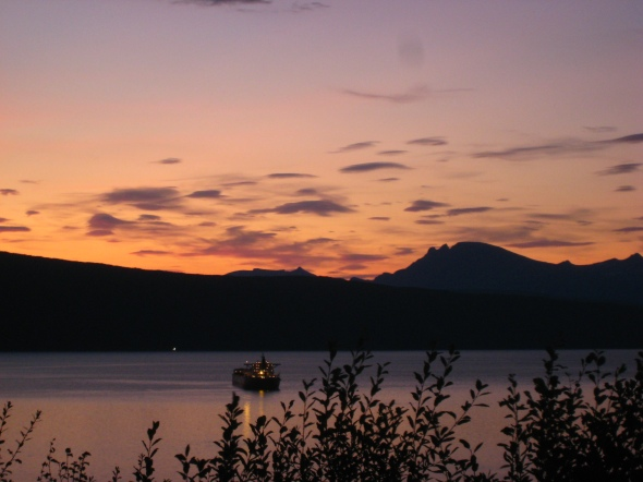The Evening sets on a beautiful late summer day in Narvik