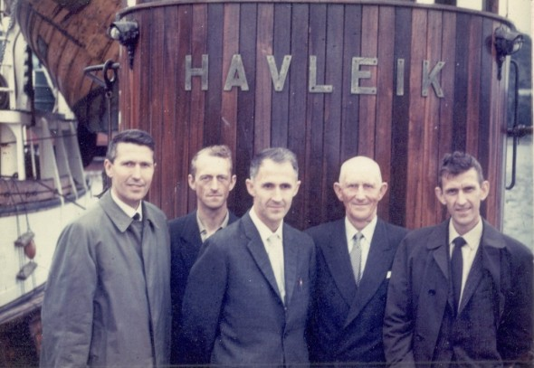 Havleik - a family business. From the left Johannes Bjugn (a highly decorated officer from the first allied victory in WW2 - The Battle of Narvik), Leif Bjugn (a fantasticly kind man and skillful fisherman), Guttorm Bjugn (former chief of police in Bø in Vesteraalen), Peder Bjugn and Kyrre Bjugn - all my grandfather's brothers - and highly respected men.