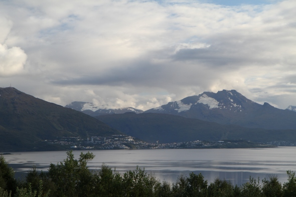 City of Narvik with the famous mountain The Sleeping Queen (1.576 m) in the background