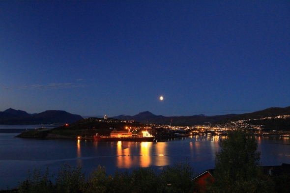 Narvik tonight - Just after sunset