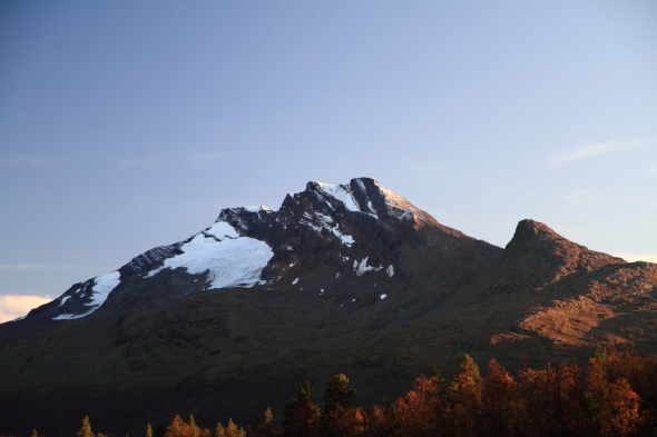 Den Sovende Dronning (1,576 meters) this evening.