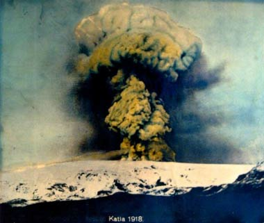 Katla's last major eruption in 1918