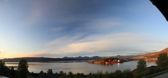 Beautiful Autumn Evening by The Ofoten Fjord