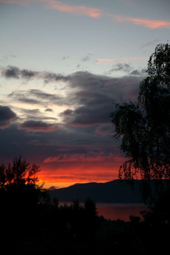 Sunset on the Ofoten Fjord