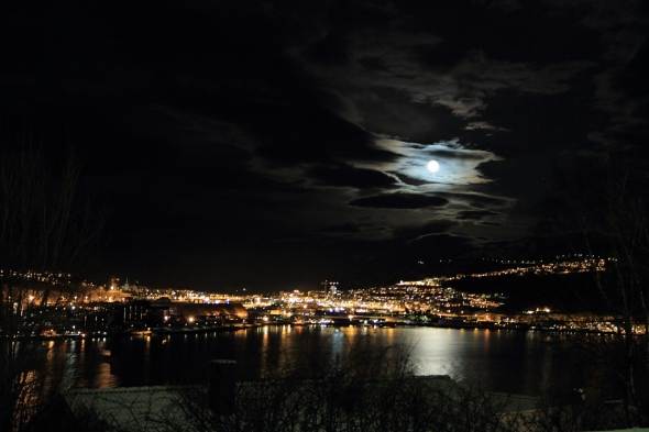 Beautiful Winter Scene this Evening - Narvik getting ready for Christmas