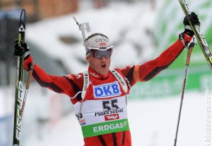 Tarjei Bø - The top Norwegian biathlete is number 1 so far in this seasons World Cup total!