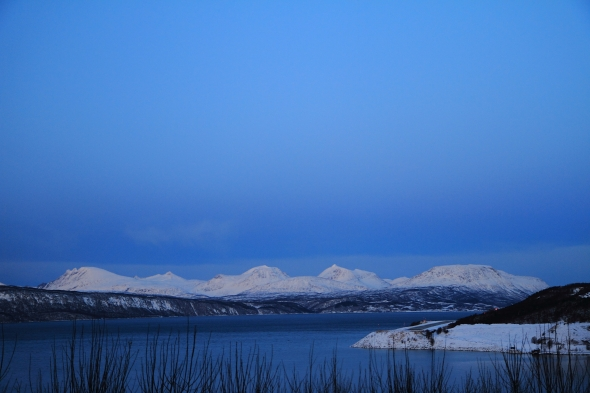 Clear sky above Narvik
