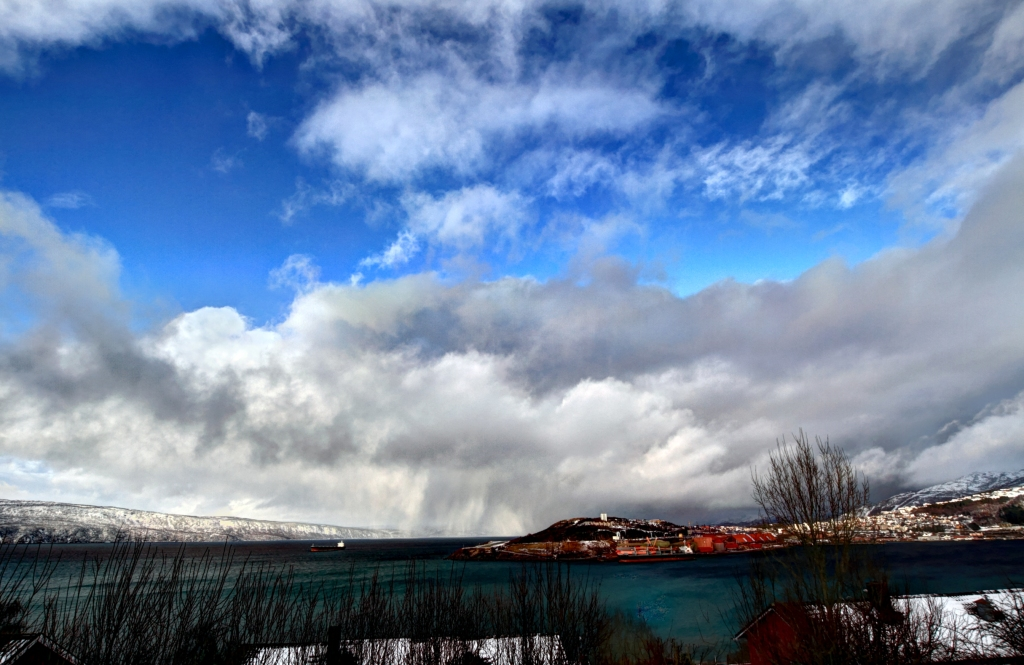 HDR of the Narvik peninsula 2nd of March 2012