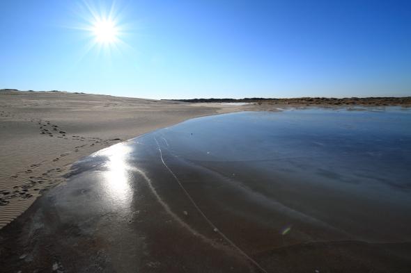 Frozen Lake in Raabjerg Mile