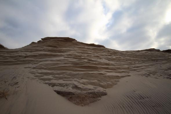 Eroding sandbanks by the sea