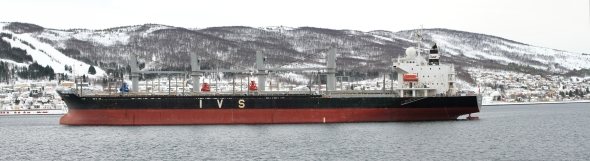 Singapore's IVS KANDA waiting to be loaded with iron ore