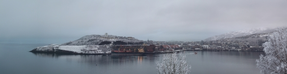 Panorama of Narvik yesterday when the snowing stopped