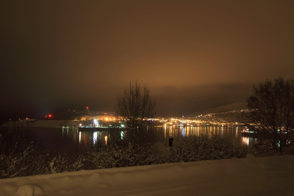 The City is all packed into a silencing, thick carpet of snow by the silent fjord
