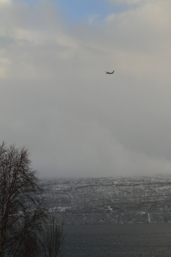 Storm Bird - Wideroe, Dash 8 - Climbing through a hole in the snow showers, southwards bound for Bodoe