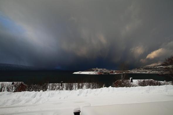 Fantastic Snow Shower Contrasts - Narvik Peninsula