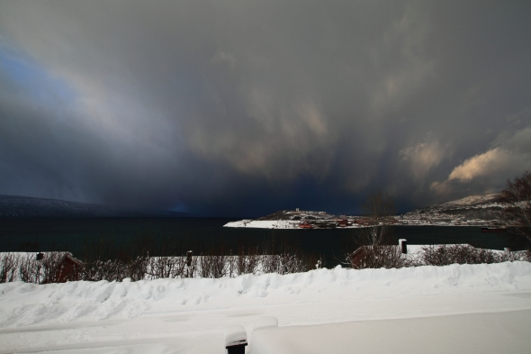 Fantastic Snow Shower Contrasts - Narvik Peninsula