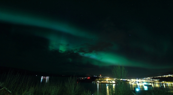 Aurora Borealis - Northern Light - over Narvik last night