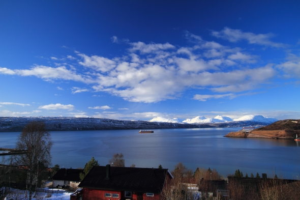 Ofoten Fjord in Early Springtime