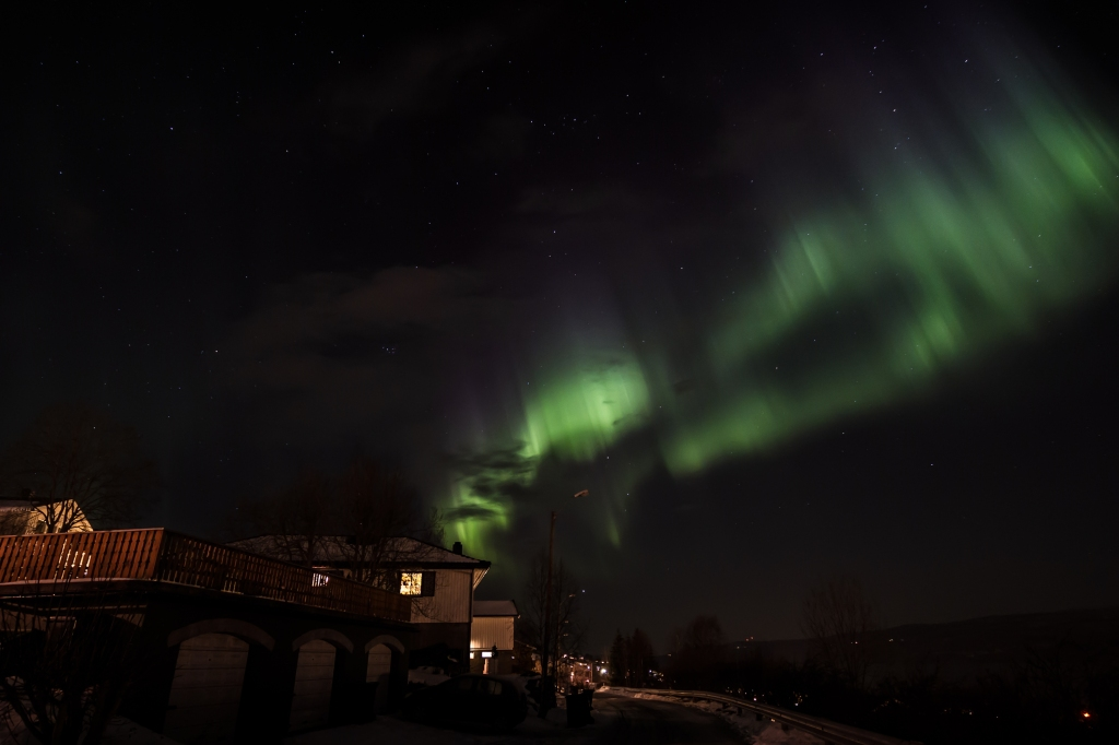 Northern Lights above Ankenes January 23. 2012