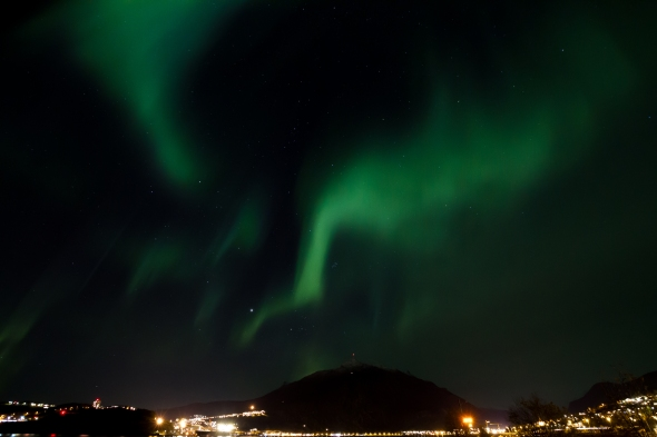 Northern Lights flickering above Narvik and Ankenes last night while Améthyste held a concert for my inner ear.